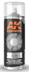 AK Interactive AK 1044 High Quality Gloss Varnish Lacquer Spray 400 ml.