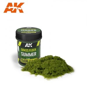 AK Interactive AK 8220 GRASS FLOCK 2MM SUMMER / Posypka trawa