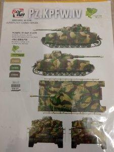 Border Model BD0107 Pz. Kpfw IV Ausf. G Late Masks 1/35