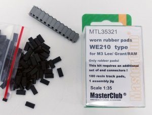 MasterClub MTL-35321 Worn rubber pads WE210 type for M3 Lee/Grant/RAM/M4 1:35