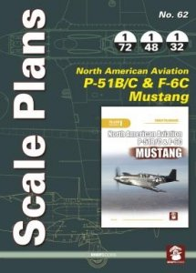 Stratus 58464 Scale Plans No. 62 NAA P-51 B/C & F-6C Mustang