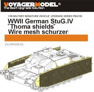 Voyager Model PEA155 WWII German StuG.IV Thoma shields wire mesh schürzen (For DRAGON Kit) 1/35