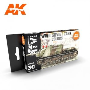 AK Interactive AK 11657 WWII SOVIET TANK COLORS 6x17 ml