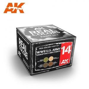 AK Interactive RCS014 WWII U.S. ARMY DISRUPTIVE CAMO PAINTS SET (4x10ml)