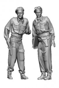 Glowel Miniatures 35024 British tank crew north-west europe 1/35