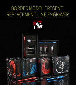 Border Model BD0052 Replacement Line Engraver - SET Black