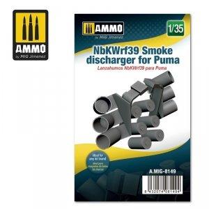 Ammo of Mig 8149 NbKWrf 39 Smoke Discharger for Puma 1/35