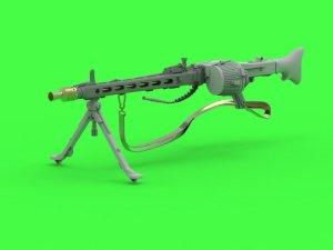Master GM-35-024 MG-42 - niemiecki karabin maszynowy (7.92mm) - kompletny karabin - zawiera elementy toczone, żywiczne, fototrawione (1 szt.) 1/35