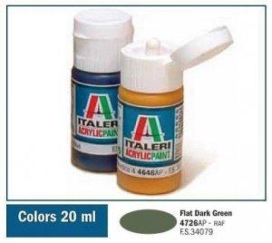 Italeri 4726 FLAT DARK GREEN 20ml