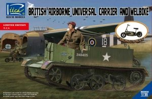 Riich Models RV35034 British Airborne Universal Carrier and welbike 1:35