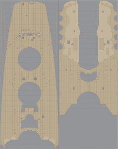 Pontos 35029WD1 IJN Yamato Wooden Deck set 1945 (1:350)