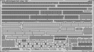 Eduard 53205 DKM Graf Zeppelin pt.2 railings TRUMPETER 1/350