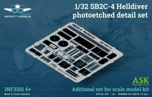 Infinity Models INF3201-06+ SB2C-4 Helldiver photoetched detail set 1/32