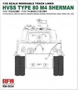 Rye Field Model 5034 HVSS T80 Track for M4 Sherman 1/35