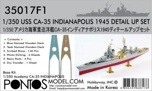 Pontos 35017F1 USS CA-35 Indianapolis 1945 Detail Up Set (1:350)