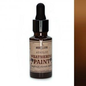 Modellers World MWE014 Weathering paint: Asphalt street dirt 30 ml