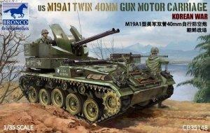 Bronco CB35148 US M19A1 Twin 40 MM Gun Motor Carriage Korean War 1/35