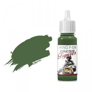 AMMO of Mig Jimenez F534 Olive Green 17ml