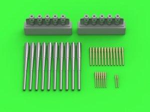 Master SM-350-106 Uzbrojenie SMS Seydlitz - lufy 280mm (10szt.), 150mm (12szt.), 88mm (8 szt.) z żywicznymi elementami do osadzenia luf (do modelu Hobby Boss) 1/350