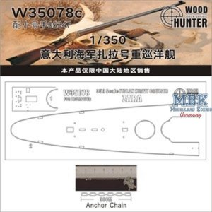 Wood Hunter W35078 Wood deck Italian Heavy Cruiser Zara (Trumpeter 05347) 1/350