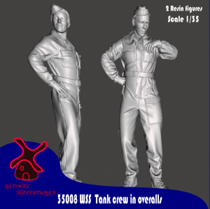 Glowel Miniatures 35008 WSS tank crew in overalls 1/35