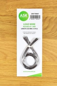 ASK T0067 Lead Wire -  Round Ø 1 mm x 250 mm (14 pcs)