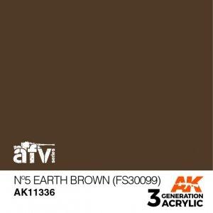 AK-Interactive AK 11336 Nº5 Earth Brown (FS30099) 17ml