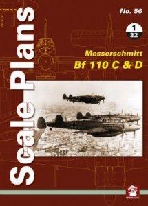 Stratus 58136 Scale Plans No. 56: Messerschmitt Bf 110 C & D 1/32