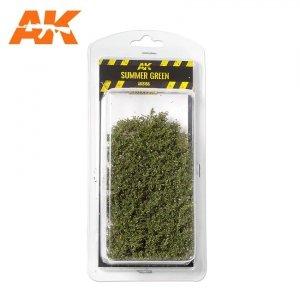 AK Interactive AK 8166 SUMMER GREEN SHRUBBERIES 75MM / 90MM 1/35