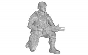 CMK F48331 Kneeling Soldier (on right knee), US Army Infantry Squad 2nd Division 1/48
