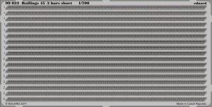 Eduard 99023 Railings 45´ 3 bars short 1/700
