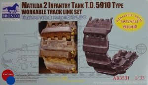 Bronco AB3531 Matilda 2 T.D. 5910 Type Workable Track Link Set 1/35
