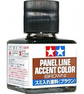 Tamiya 87132 Panel Line Accent Color 40ml. (Brown)
