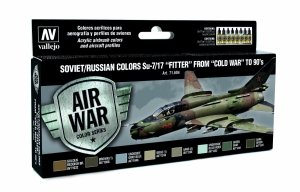 Vallejo 71604 Soviet / Russian colors Su-7/17 Fitter from Cold War to 80 8x17 ml