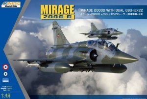 Kinetic K48120 Mirage 2000D with dual GBU-12/22 1/48