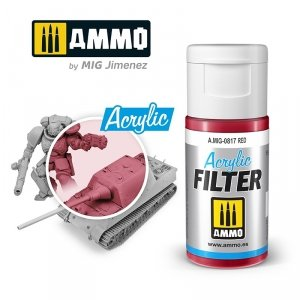 Ammo of Mig 0817 ACRYLIC FILTER Red 15 ml