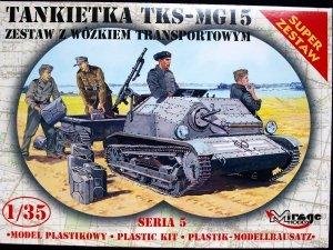 Mirage Hobby 355015 Tankietka TKS-MG15 zestaw z wózkiem zaopatrzeniowym 1:35