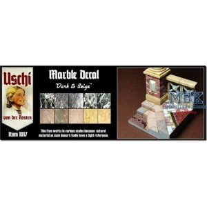 Uschi van der Rosten 1017 Marbel Decal Black/Beige 1/35