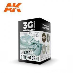 AK Interactive AK 11642 GERMAN PANZER GREY MODULATION SET 4x17 ml