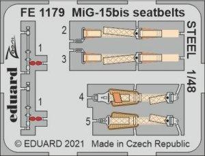 Eduard FE1179 MiG-15bis seatbelts STEEL BRONCO / HOBBY 2000 1/48