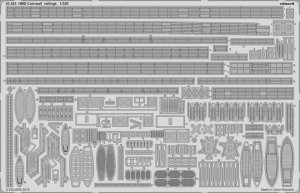 Eduard 53243 HMS Cornwall railings 1/350 TRUMPETER