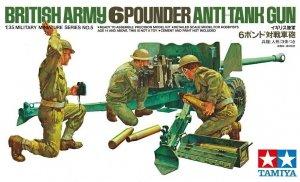 Tamiya 35005 British Army 6 Pounder Anti-Tank Gun 1/35