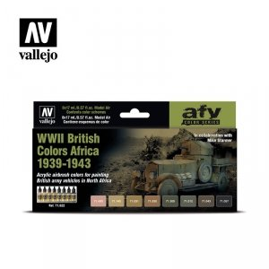 Vallejo 71622 WWII British Colors Africa 1939-1943 8x17ml