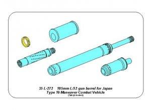 Aber 35L-272 105mm L/52 gun barrel for Japan Type 16 MCV