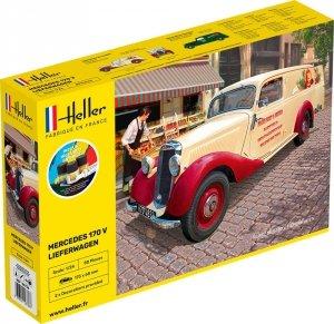 Heller 56736 Mercedes 170 V Lieferwagen - Starter Kit 1/24