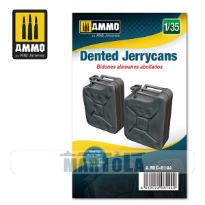 Ammo of Mig 8144 Dented Jerrycans  1/35