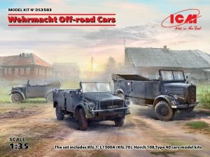 ICM DS3503 Wehrmacht Off-road Cars (Kfz.1, Horch 108 Typ 40, L1500A) 1/35