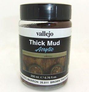 Vallejo 26811 Thick Mud - Brown Mud 200ml