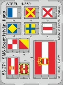 Eduard 53271 SMS Szent István flags STEEL TRUMPETER 1/350