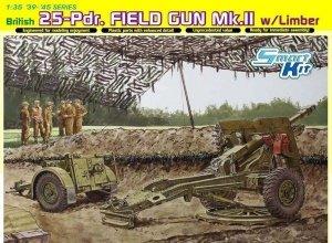 Dragon 6774 British 25pdr Field Gun Mk.II with Limber (1:35)
